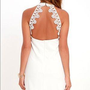 Lulu's Dresses - Lulu's greatest gift ivory lace dress